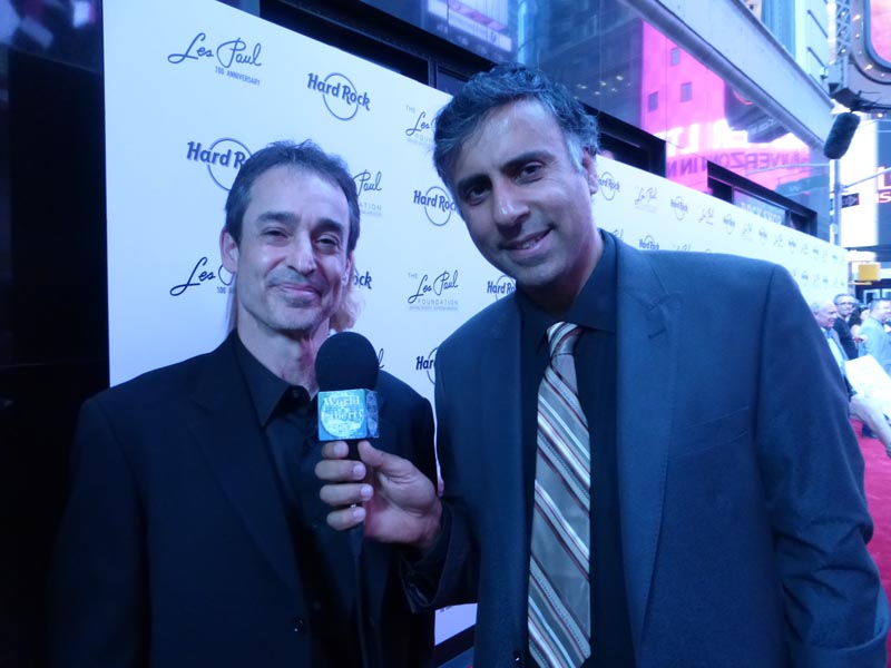 Dr.Abbey with Michael Braunstein Executive Director  the Les Paul Foundation