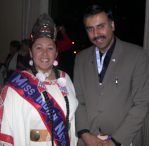 Dr.Abbey with  Miss Native Indian