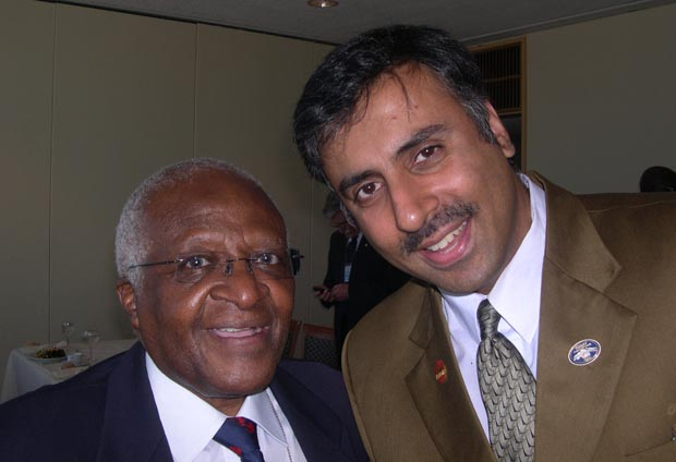 Dr.Abbey with Nobel Peace Prize Winner  Bishop Desmond Tutu