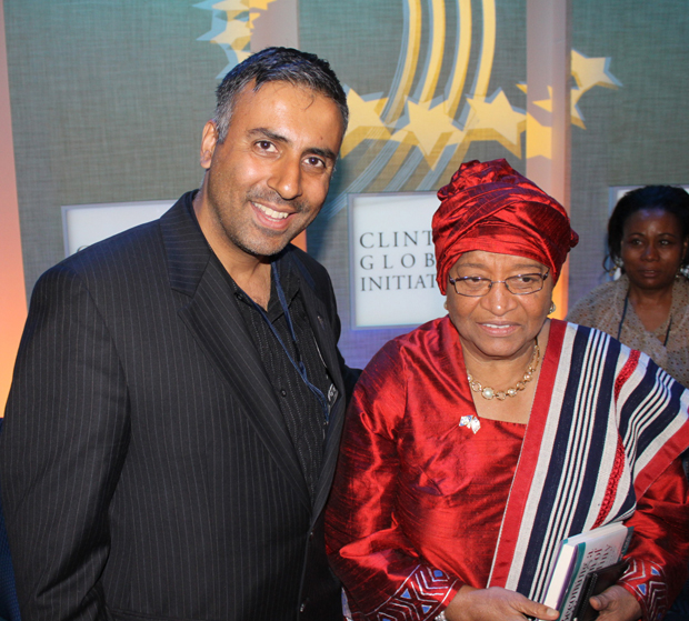 Dr.Abbey with Nobel Peace Prize Winner Liberia's President Ellen Johnson-Sirleaf