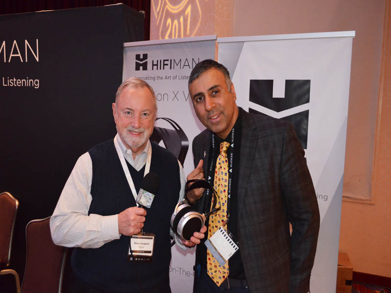 Dr.Abbey with Peter Hoagland of Hifiman