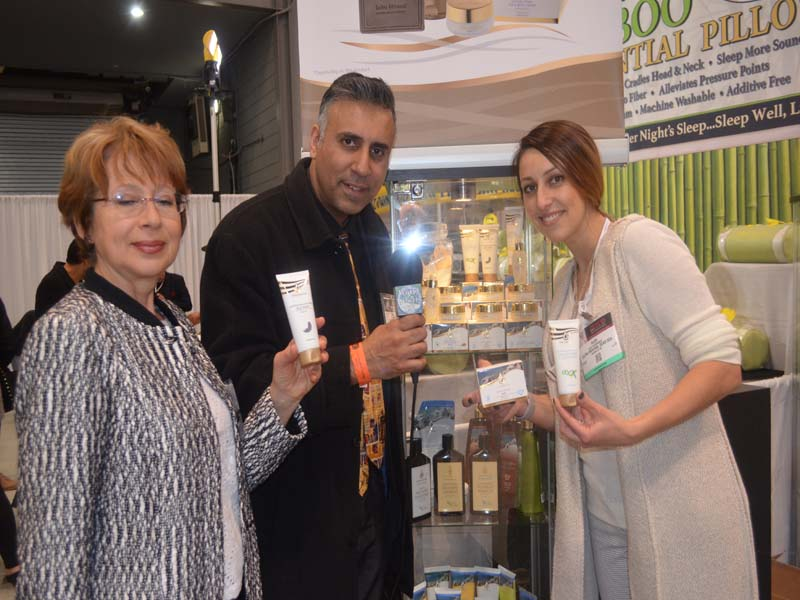 Dr.Abbey with Reps from Extra Mineral Dead Sea Products