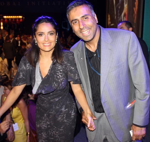 Dr.Abbey with Salma Hayek Actress