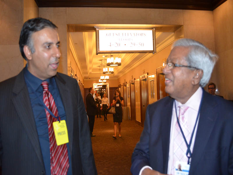 Dr.Abbey with Sir Fazle Hasan Abed Founder BRAC