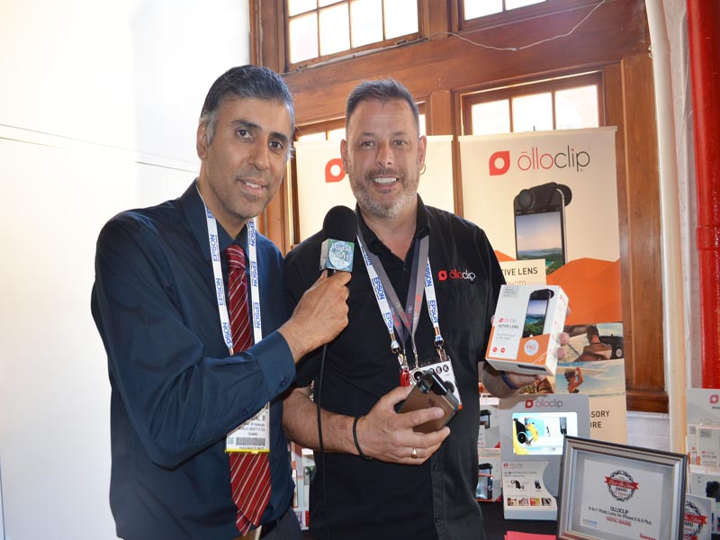 Dr.Abbey with Steve Muttram COO of Olloclip