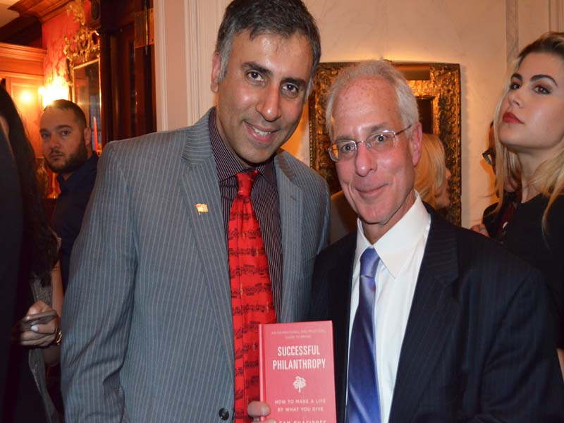Dr.Abbey with Steven M.Bernstein President South Hampton Hospital Found