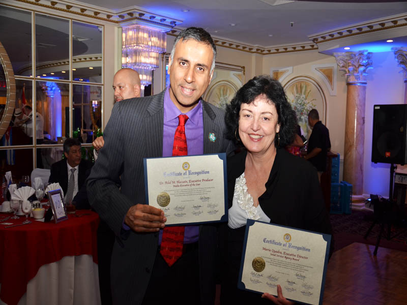 Dr.Abbey with fellow honoree Maria Fernandez CEO of COPAY Inc