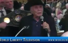 """Jake """"Raging Bull"""" LaMotta, Former World Middleweight Boxing Champion, Inducted to the NYS Boxing Hall of Fame 2012"""