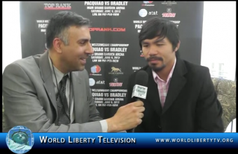 Exclusive Interview with Manny Pacquiao, Eight -Time World Boxing Champion – New York, 2012
