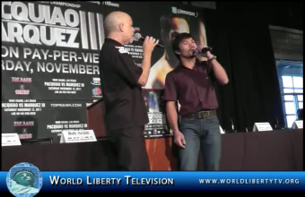 """Live Duet Performance by Dan Hill & Manny Pacquiao of the Classic Hit """"When We Touch"""" – 2011"""