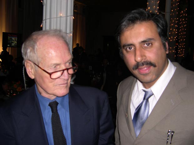 Dr. Abbey With Movie Superstar Paul Newman
