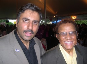 Dr. Abbey with Legendary Hal Jackson