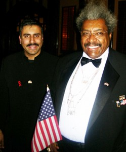 Dr.Abbey with Boxing Promoter Don King N