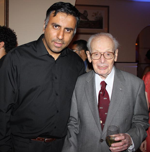 Dr.Abbey with Eugene M. Lang Founder of I have a Dream Foundation