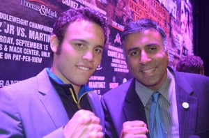 Dr.Abbey with Julio Cesar Chavez Jr, Former World Middleweight Boxing Champion