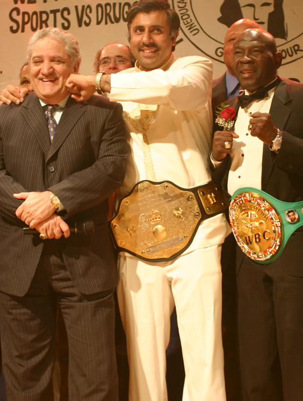 Dr.Abbey with  Kamal Dondona Bollywood Chairman & Boxing Great Emile Griffith