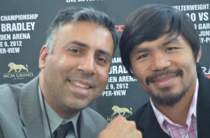 Dr.Abbey with Manny Pacquiao 8 Time World Boxing Champion