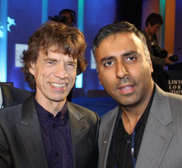 Dr.Abbey with Mick Jagger from the Rolling Stones