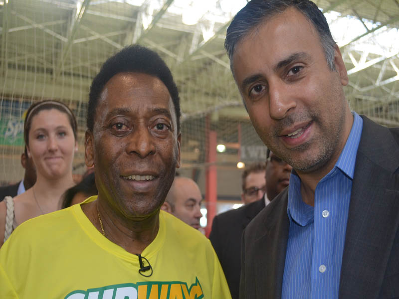 Dr.Abbey with Pele Greatest Soccer Player of all times