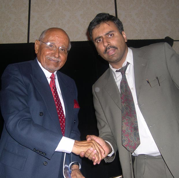 Dr.Abbey with   Percy E Sutton Businessman, Lawyer and Politician