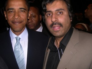 Dr. Abbey with President   Barack Obama