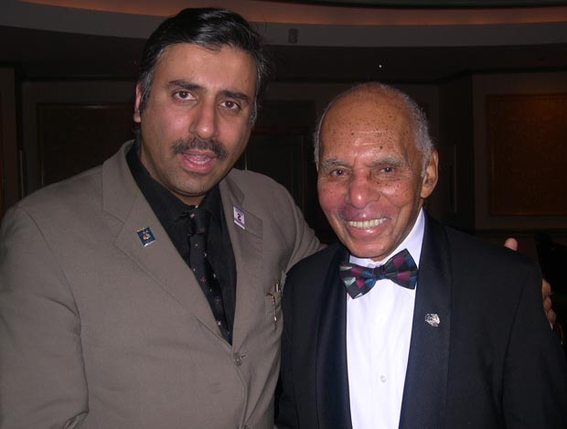 Dr.Abbey with  Roscoe Brown Former Tuskeegee Airman with
