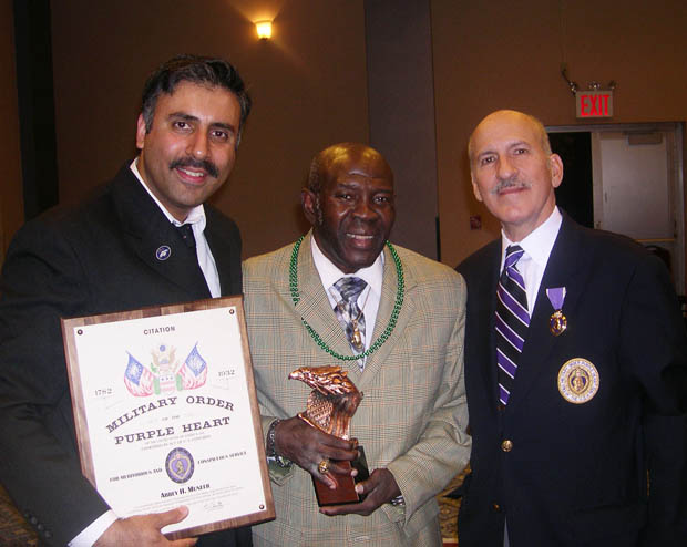 Honorees Dr. Abbey  & Emile Griffith with Capt Tony Rivera Jr