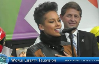"Grammy  Winner Alicia Keys  Introduces  new  Interactive storytelling  APP ""MOOKEY"" at the 111th , American International Toy Fair 2014"