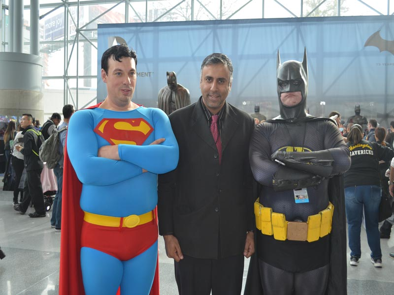 Dr.Abbey with Batman and Superman
