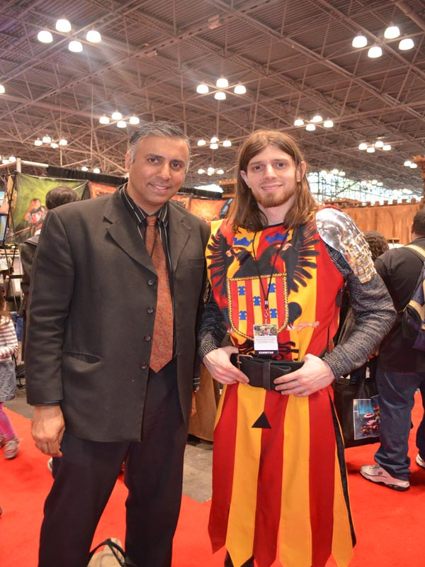 Dr.Abbey with Medieval  Time Knight