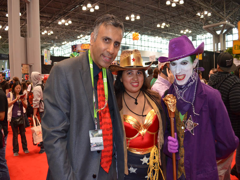 Dr.Abbey with Sheriff Joker & Cowgirl & Wonder Woman Girl