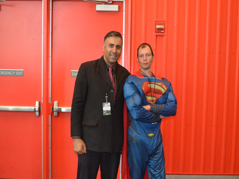 Dr.Abbey with Superman
