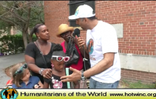 Humanitarians of the World Inc, Back to School Presentation to Needy Kids-2015