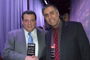 Dr.Abbey with Mauricio Sulaiman WBC President