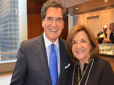 Ernie Anastos with his wife