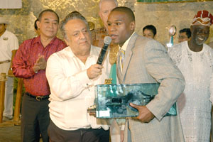 Young Floyd with Late Jose Sulaiman