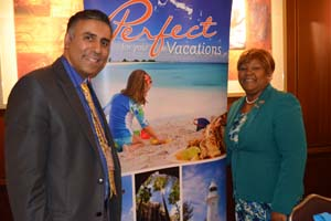 Dr.Abbey with Porsha Stubbs Smith Minster Tourism for Turks & Caicos