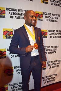 Floyd Posing with his BWAA Medal