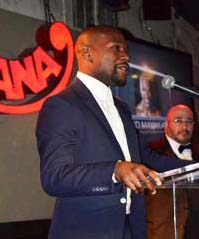 Floyd making his Acceptance Speech