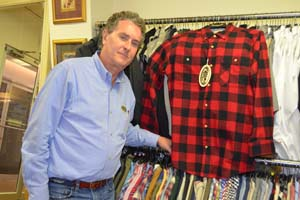 Mr Debon with His Backpacker Collection Shirt