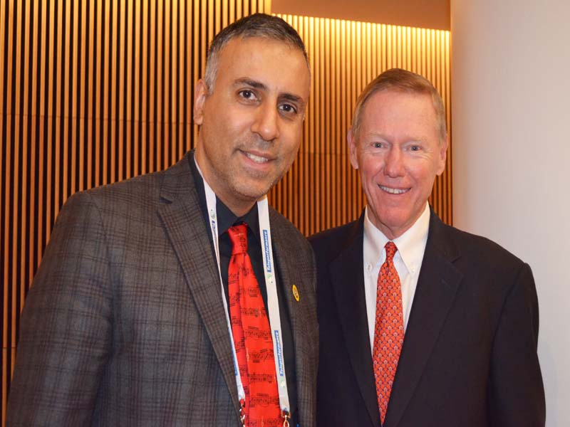 Dr.Abbey with Alan Mulally former President CEO of Ford Motor Company
