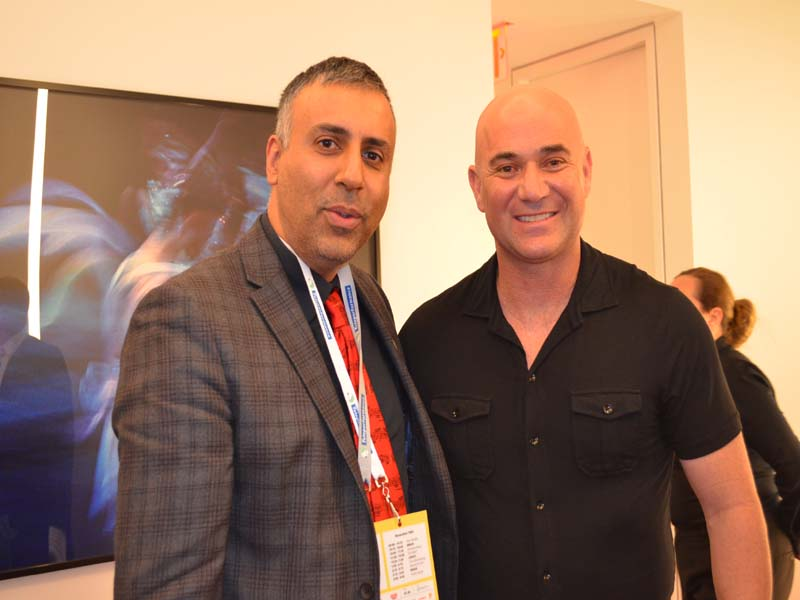 Dr Abbey with Andre Agassi Tennis Great & Philanthropist