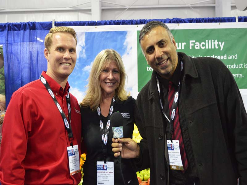 Dr.Abbey with Dan kane and Christina Hoffman of Philadelphia Wholesale Produce Market