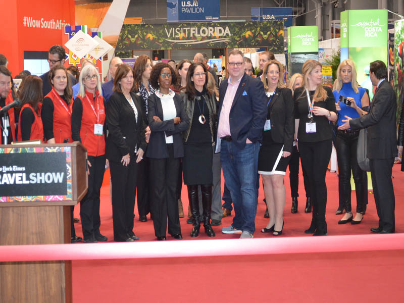 Ribbon cutting at NY times Travel show 2017