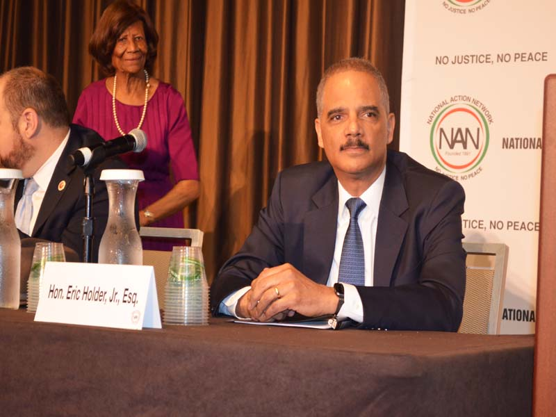 Disgraced attorney General Eric Holder