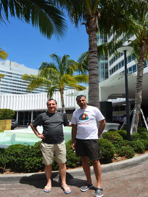Dr.Abbey & Prof Anatoly V outside the Legendary The Fontainebleau Hotel @ Miami Beach