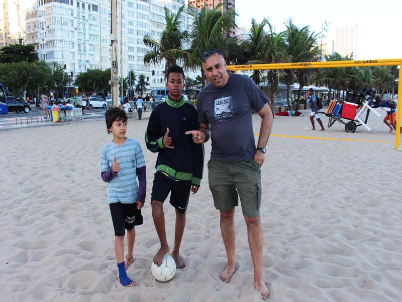 Dr.Abbey with 2 kid Soccer players