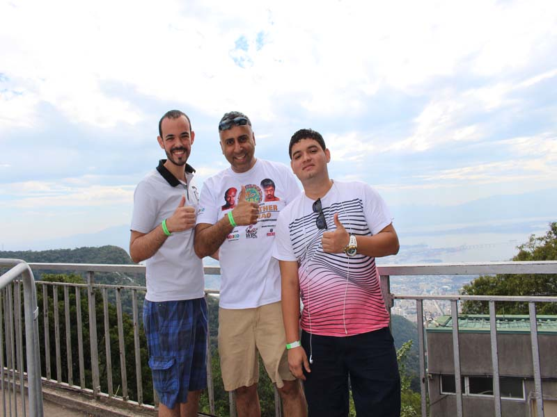 Dr.Abbey with Chilean Tourists in Rio Brazil