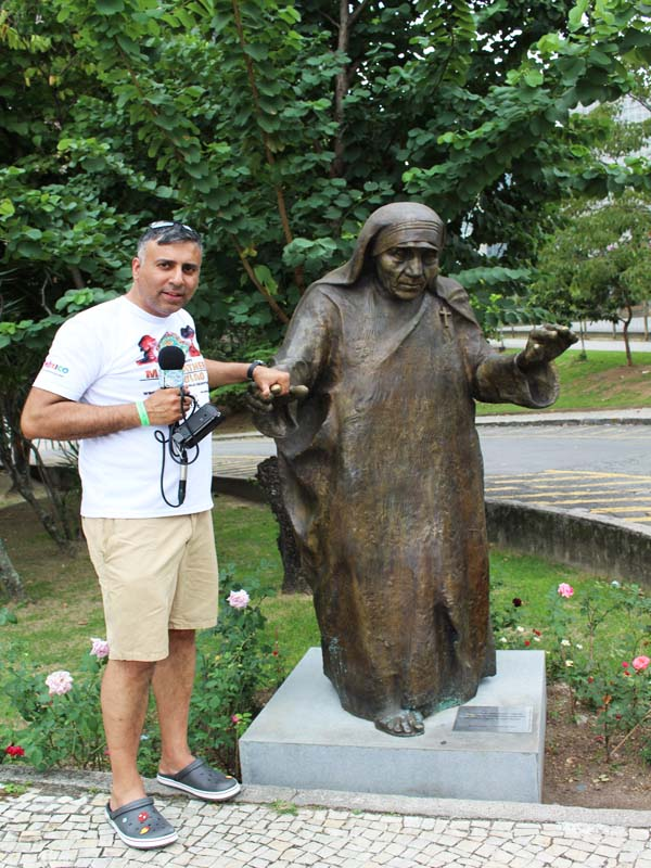 Mother Teresa Statue at St Augustine Cathedral Rio Brazil