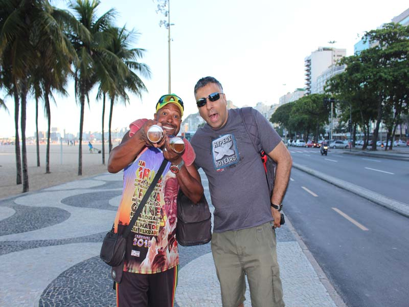 On the Copacabana Beach with one of the vendors RIO Brazil